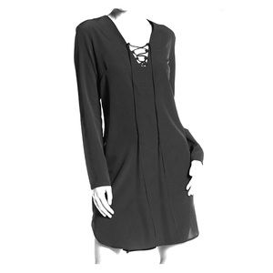 A by Amanda Long Sleeve Lace Up Dress